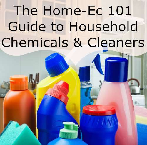 The Home-Ec101 Guide to Household Chemicals and Cleaners