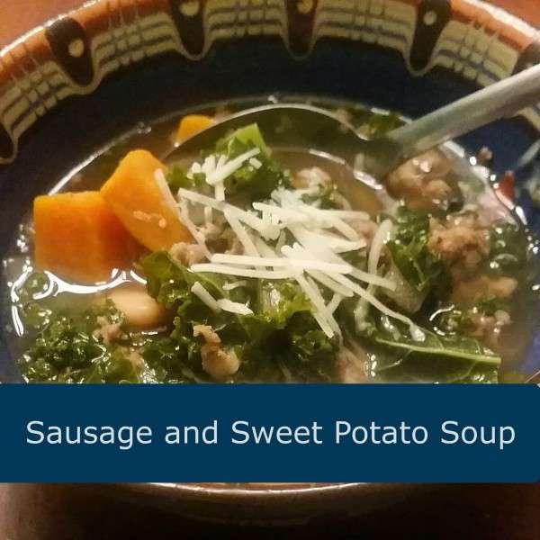 Hearty Sausage, Kale, and Sweet Potato Soup