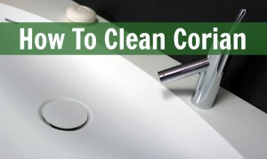 how to clean corian