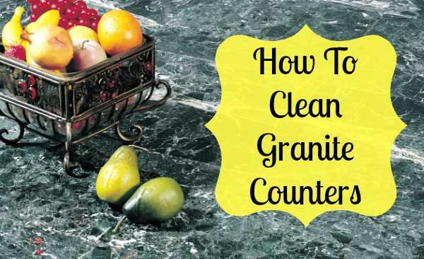 How to clean granite counter tops