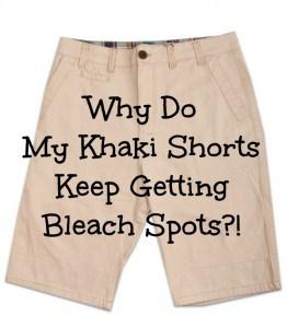 spots on khaki shorts