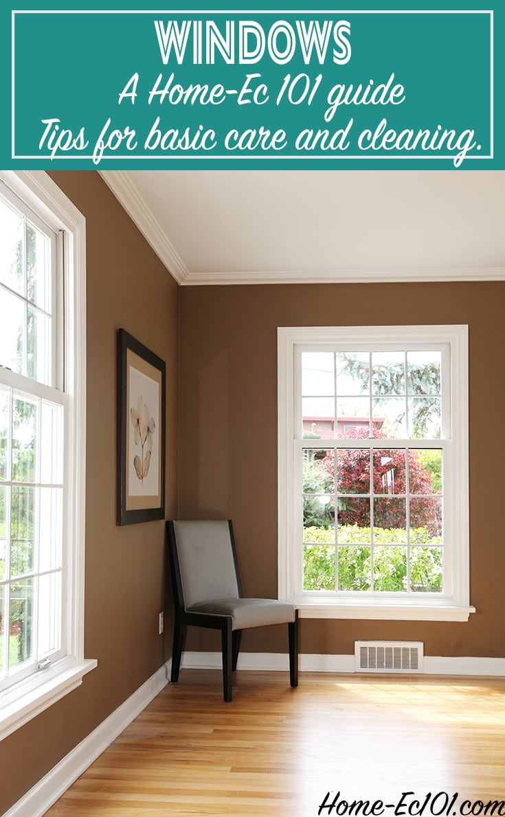 How to clean and care for windows