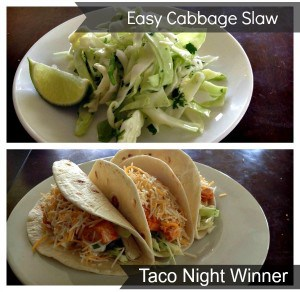 Easy Cabbage Slaw with Lime, Cilantro and Honey