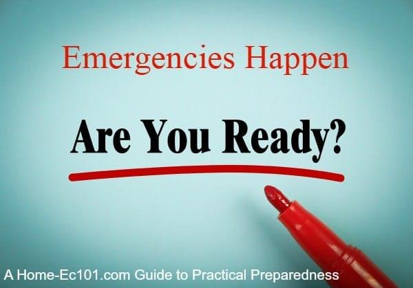 Emergency Preparedness Refresher