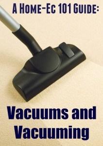vacuum and vacuuming tips