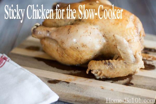 Crockpot Friendly Sticky Chicken Recipe