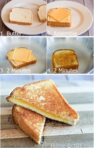 Step By Step Grilled Cheese Tutorial