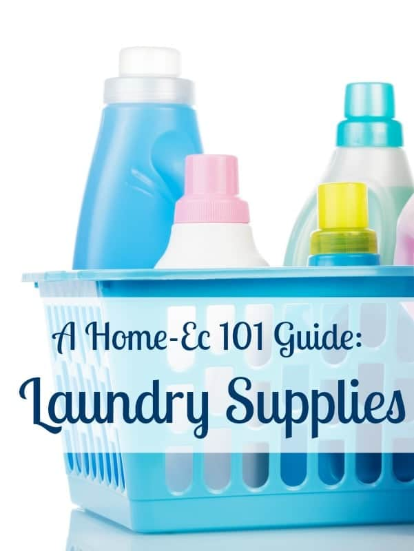 Laundry Supplies: A Home-Ec 101 Guide