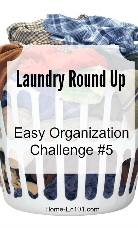 Laundry round up organization challenge