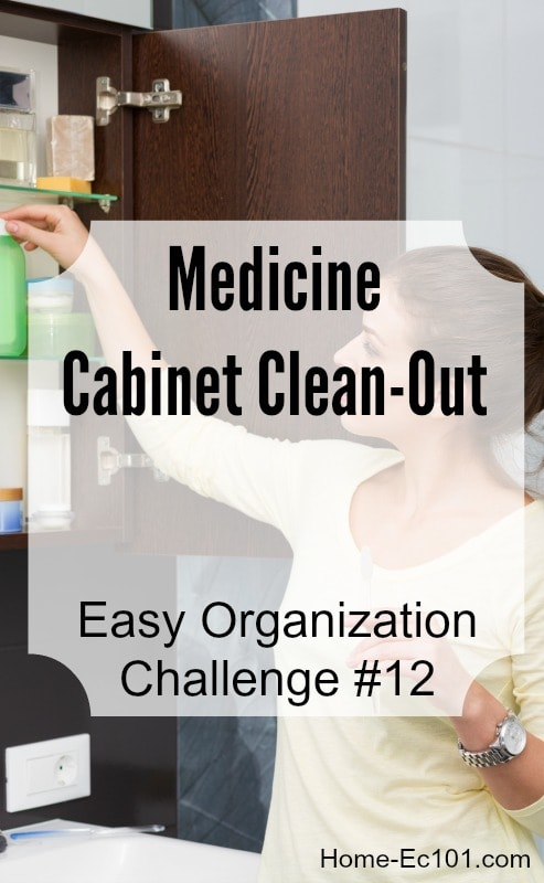 Organizational Sunday Challenge #12: Medicine Cabinet Clean-Out