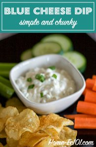 It's scrumptious as a dip for buffalo hot wings and celery sticks. Use a dish of Simple Chunky Blue Cheese Dip as the star of a raw veggie tray.