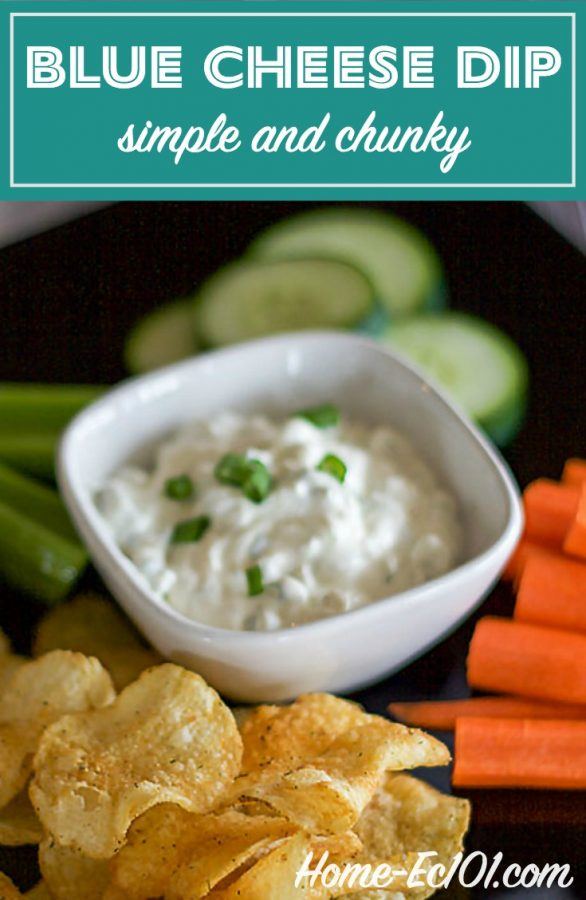 It's scrumptious as a dip for buffalo hot wings and celery sticks. Use a dish of Simple Chunky Bleu Cheese Dip as the star of a raw veggie tray.