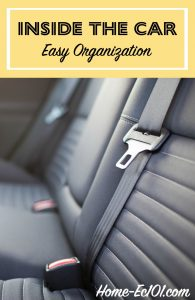 Clean out inside the car for this week's easy organization challenge