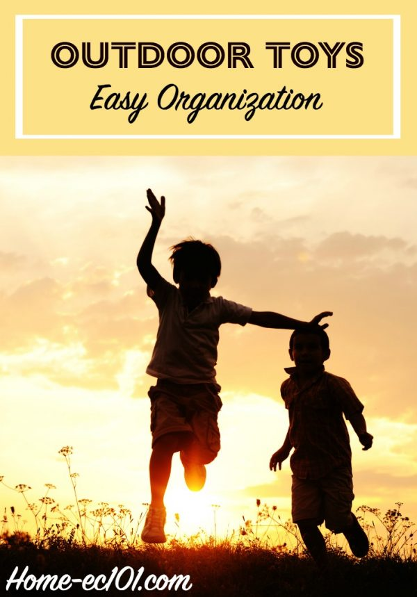 School is out and it's time to play outside. Time to organize the outdoor toys and gear.