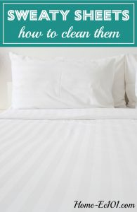I'm trying to get some sweat stains out of my cream-coloured sheets, as well as my white mattress pad...help me clean my sweaty sheets!
