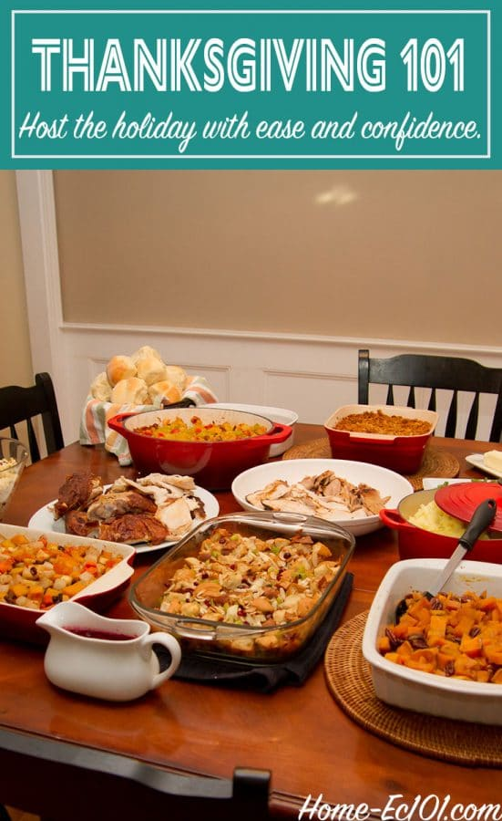 Countdown to Turkey Day with Home-Ec 101. Schedules, Recipes and plans for hosting your first or your best Thanksgiving ever.