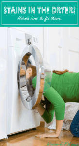 How to remove denim stains from the dryer