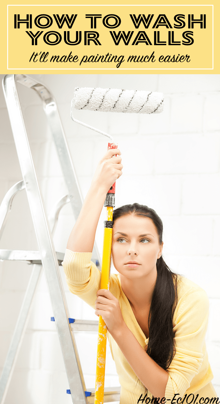 Washing walls before painting helps the new paint adhere better, saving time and effort