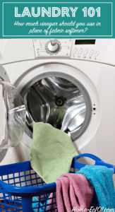 How much vinegar should you use instead of fabric softener in a high efficiency washing machine?