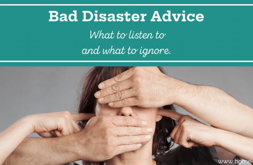 Bad Disaster Advice