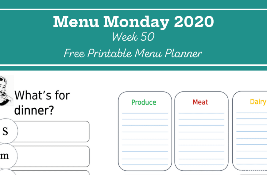 Menu Monday Week 50: The Year Is Winding Down