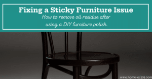Chair with text overlay Fixing a Sticky Furniture Issue