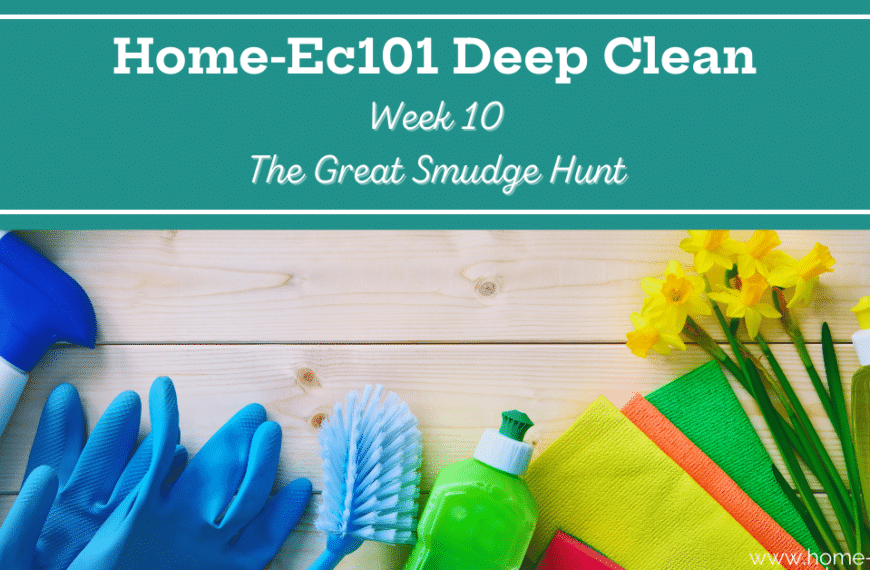 Deep Clean Week 10: Smudge and Peeve Hunt and Elimination
