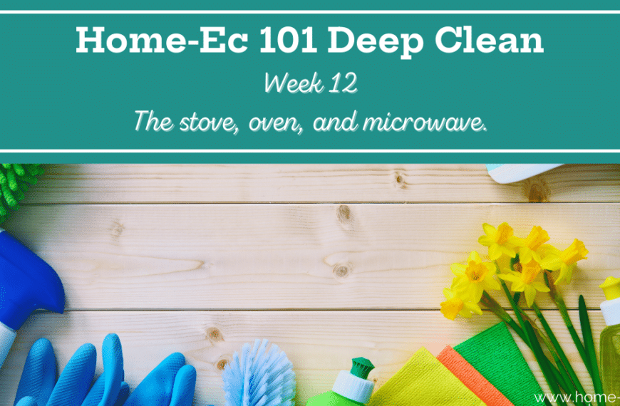 Deep Clean Week 12: The Oven, Range and Microwave